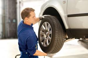 Reifenwechsel-Montage